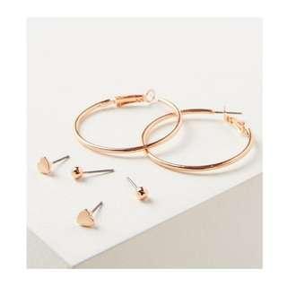 ❤️ Set of 3 earrings