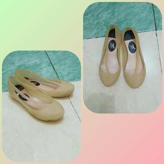 #READY Sepatu flat jelly / jelly flat shoes preloved