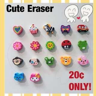 🌟 Cute Cartoon Rubber Eraser - 20 cents each 🌟