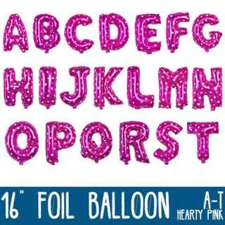 🌟 Hearty Pink Foil Balloon - 16 inches (A to Z) 🌟