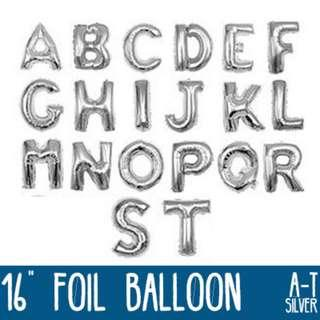 🌟 Silver Foil Balloon - 16 inches (A to Z, 0 to 9) 🌟