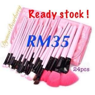 Readystock! 24pcs makeup brushes set with bag (3 Color To Choose)