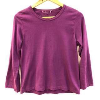 Comme des garçons purple sweater top size L