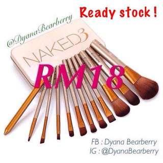 Naked3 Brushes Inspired 12pcs