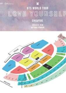 Selling BTS Love Yourself Singapore Cat 2 tickets!