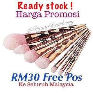 FREE POS Readystock! Diamond Rose Gold brushes 7pcs .