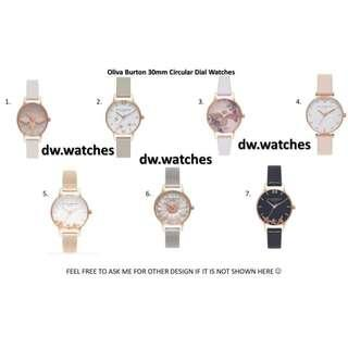 🚚 🌟NEW OLIVIA BURTON CIRCULAR DIAL 30mm 3D BEE/FLORAL WATCHES🌟