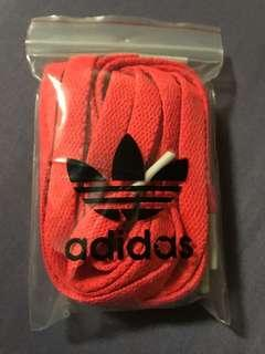 Adidas 亮橘 鞋帶
