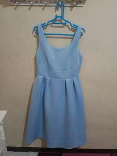 Blue flare dress