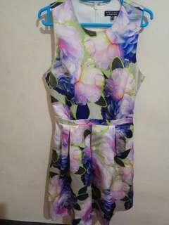 Flare floral dress
