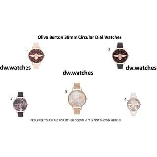 🚚 🌟NEW OLIVIA BURTON CIRCULAR DIAL 38mm 3D BEE/FLORAL WATCHES🌟