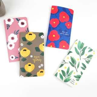 PO Flowers Floral Pattern Print Prayer Small Long Note Book Notebook Christmas Gift Present