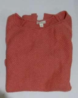 Pink Knitted Gap Sweater
