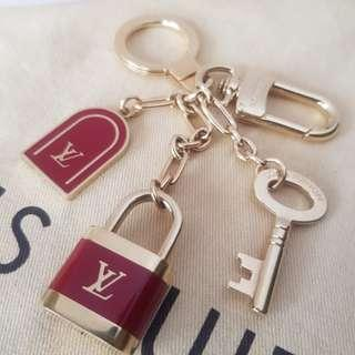Louis Vuitton Key Lock Bag Charm and Key Chain