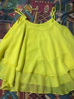 Bright yellow sleeveless