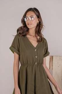 🚚 TTR Gren Sleeved Romper in Olive