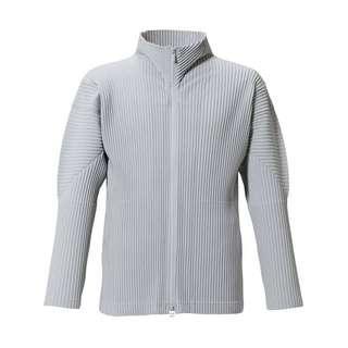 🚚 HOMME PLISSE ISSEY MIYAKE BASIC系列 外套 拉鍊外套 灰色 2號