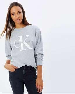 Calvin Klein grey logo sweatshirt/ brand new without tags/ size small