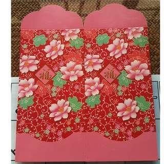 6 pcs Your Very Treatz Floral Red Packet / Ang Bao Pow Pau Pao / Sampul Duit