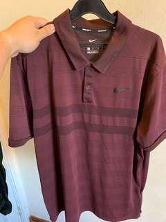 Nike Golf Zonal Cooling Polo in Burgundy Crush, Size L