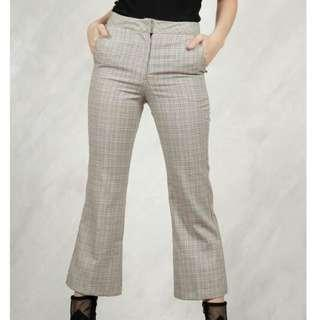 Shop copper plaid trouser