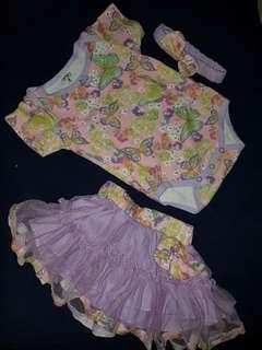Onesies with tutu skirt