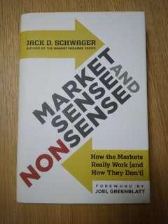*Free Postage* Market Sense and Nonsense by Jack D. Schwager (hardcover)