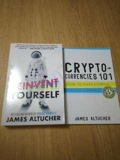 *Free Postage * Reinvent Yourself by James Altucher + free crypto book (paperback)
