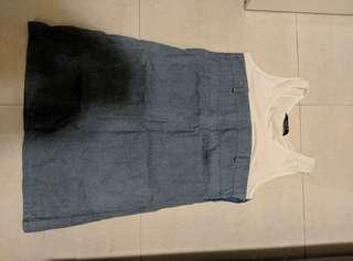 半截裙,藍色