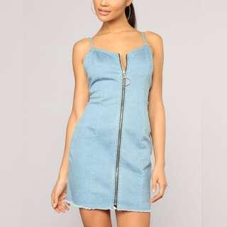 New Fashion Nova denim dress