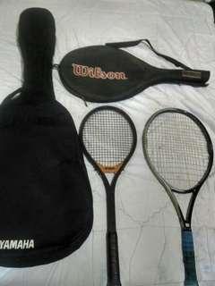 Raket Tenis Wilson type High Beam Tour dan raket Yamaha Japan