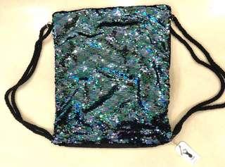 On The Go Backpack (Col: Black Multi Sequin) Cotton on