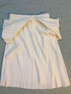 White off shoulder tube top
