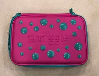 Smiggle Double-decker Pencil Case (Teal+Pink) 雙層笔盒