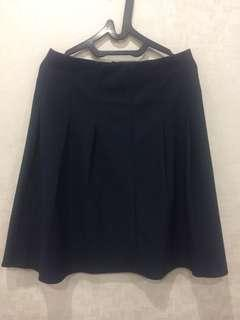 Navy skirt semi span