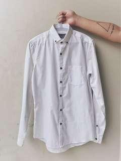 Topman White Button Down Shirt with Contract Buttons