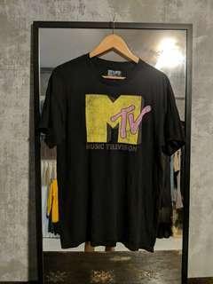 1990s Black MTV Tshirt
