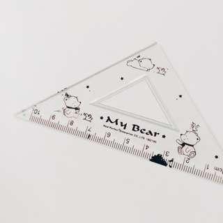 🚚 免費/ 污漬直角三角尺 三角板
