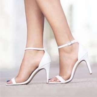 "SALE! EverNew White 3"" Heels"