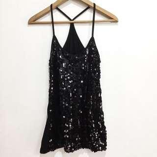 Sequin strappy top shirt