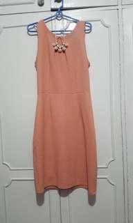 Nude peach dress