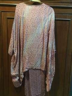 Batik Dress Rose Gold (kondangan/pesta)