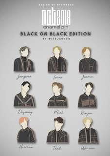 [SHARE / SG GO] NCT 2018 BLACK ON BLACK ENAMEL PINS