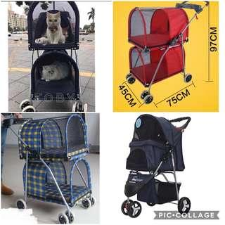 🚚 (New!) pet stroller carrier bag pram double