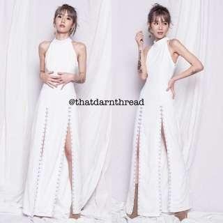 YHF Hook Maxi Dress in White