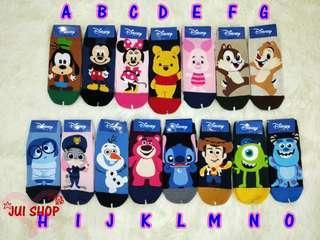 🚚 韓國🇰🇷襪子🧦 迪士尼短襪 高飛 米妮 維尼 胡迪 毛怪 奇奇蒂蒂 22-26cm