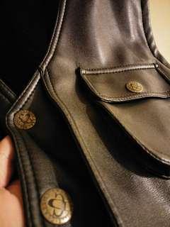 🚚 超好看工裝皮革背心 重機獵裝風格適用
