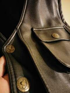 🚚 工裝獵裝皮革背心