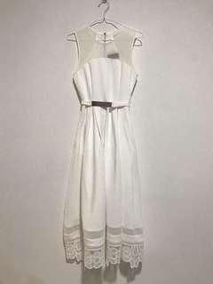 Double woot white dress