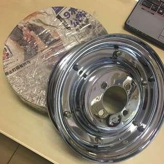 Vespa Chrome Rims (a Pair)